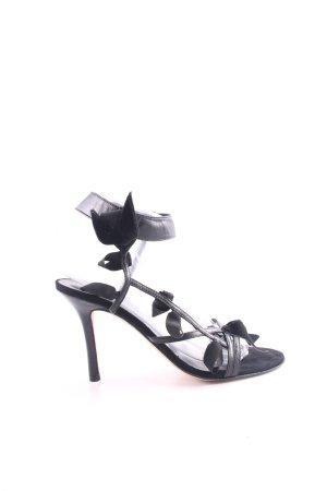 Beverly Feldman Strapped High-Heeled Sandals black elegant