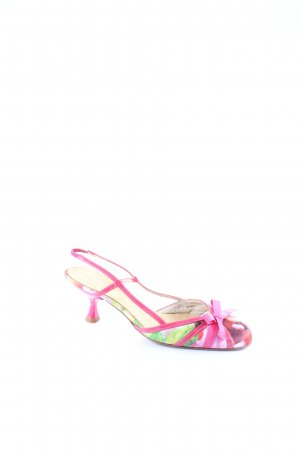 Beverly Feldman Slingback-Pumps florales Muster Beach-Look