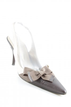 Beverly Feldman Pointed Toe Pumps brown-pink business style