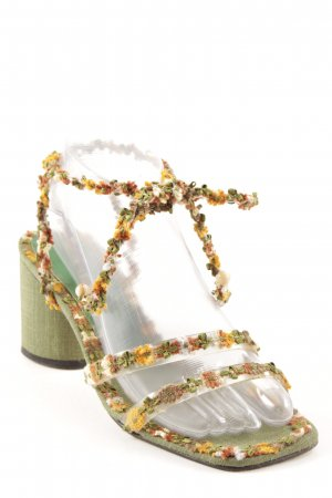 Beverly Feldman High-Heeled Toe-Post Sandals multicolored romantic style