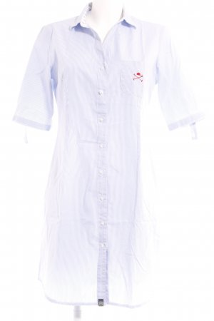 Beverly Hills Polo Club Shirtwaist dress natural white-azure striped pattern