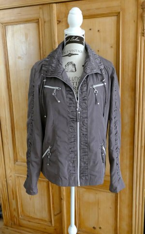 Bexleys Between-Seasons Jacket grey brown polyester