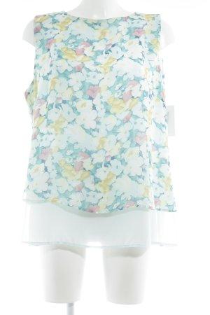 Bexleys Blusa senza maniche celeste-verde pallido motivo floreale Stile Boho