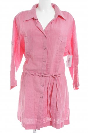 Bexleys Blusa-camisa rosa-marrón oscuro look casual