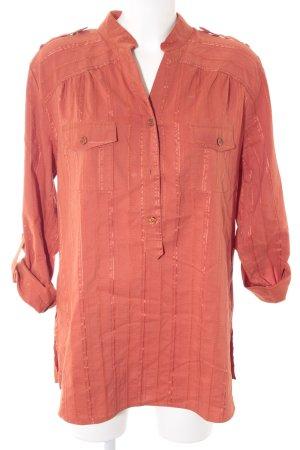 Bexleys Camicetta a maniche lunghe arancione scuro motivo a righe stile casual