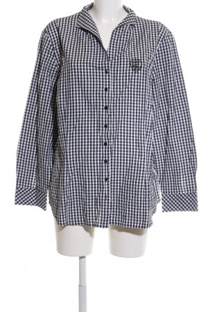 Bexleys Long Sleeve Shirt black-white check pattern casual look