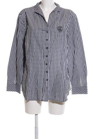 Bexleys Langarmhemd schwarz-weiß Karomuster Casual-Look