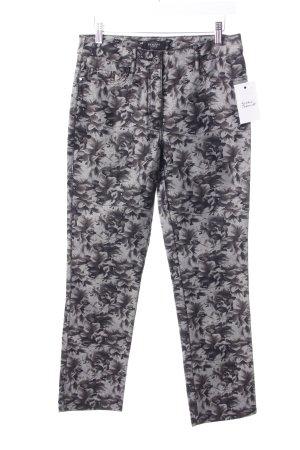 Bexleys Skinny Jeans grau-schwarz Blumenmuster Jeans-Optik