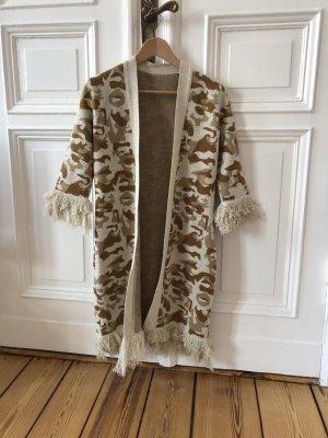 Beymen Long Jacket natural white-light brown