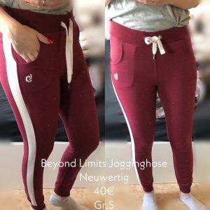Pantalon de jogging rouge foncé