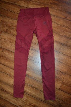 Pantalon de sport rouge carmin-rouge foncé