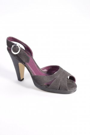 Beyond Skin Strapped High-Heeled Sandals black