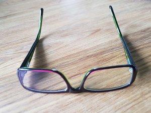 Bril donkerpaars-groen