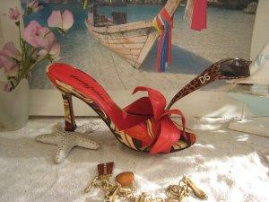 Beverly Feldman Sandaletto con tacco alto multicolore Pelle