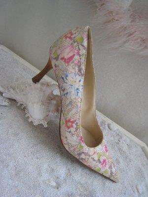 Bezaubernde Blütenschühchen Pastell Hell Luxus Pur NP 299 € Top wie Neu