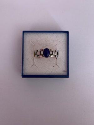 Bezaubernde Handgemachte Silber 925 Ring mit Lapislazuli stein