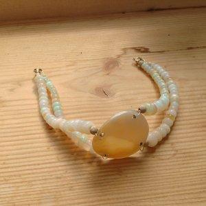 ** Bezaubernde natürliche Opal  - Armband ** 375 Gelbgold **