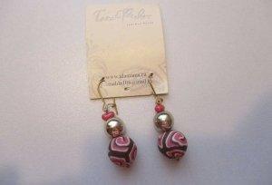 Bezaubernde Ohrhänger aus handmodellierten Perlen Fimo Polymer Clay Ohrringe Ohrschmuck Fimo Perlen-Ohrhaken