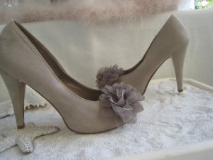 Barratts High Heels light grey-cream leather