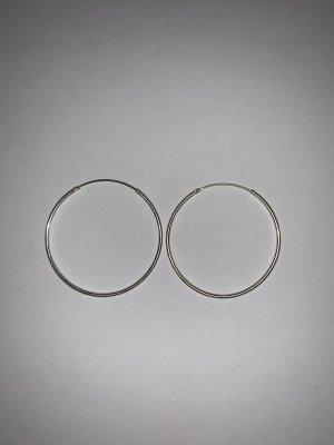 Bezaubernde Silber Creolen Ohrringe 925 Sterling Silber