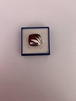 Bezaubernder handgemachter Silber 925 Ring emailliert massiv echt Silber
