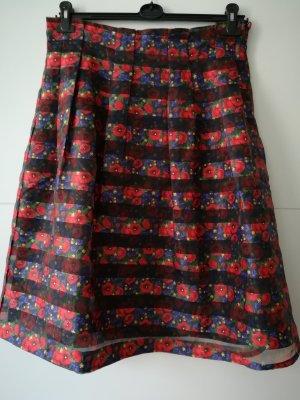 Yumi Skater Skirt black-red