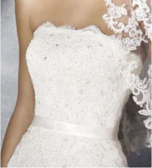 Wedding Dress cream polyester