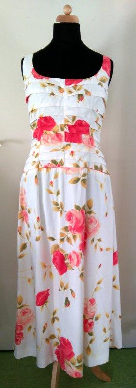 Bezauberndes Designerkleid mit Blumenprint - Unikat