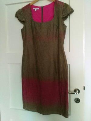 Bezauberndes Kleid von Steilmann oliv/pink Gr 40