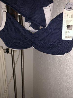 Esprit Vêtement de bain bleu foncé-blanc