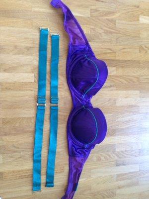 BH in lila/Türkis mit oder ohne Träger zu tragen