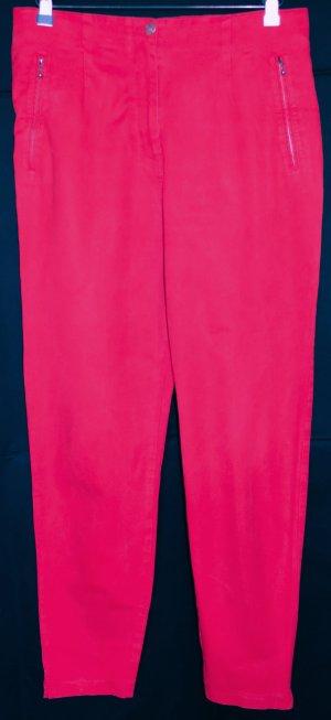 Vanilia High Waist Trousers red cotton