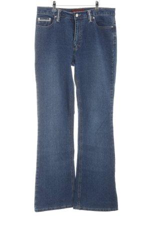 Biaggini Boot Cut Jeans blau Casual-Look
