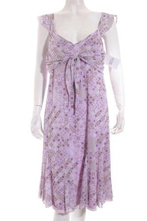 Biaggini Kleid blasslila-beige abstraktes Muster Gypsy-Look
