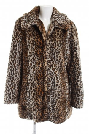 Biaggini Fake Fur Coat brown-natural white animal pattern casual look