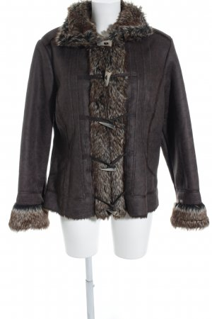 Biaggini Faux Leather Jacket brown-black brown extravagant style