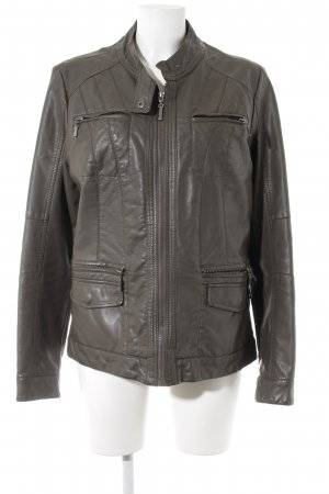 Biaggini Faux Leather Jacket grey brown matte look