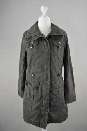 Biaggini Mantel mit Reißverschluss und mehreren Taschen olivgrün Größe 38