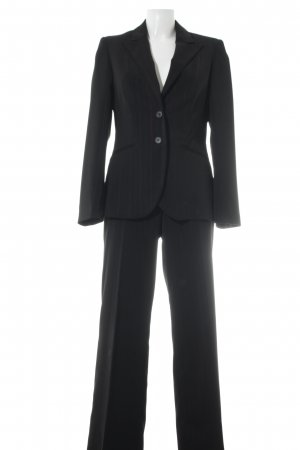 Biaggini Pinstripe Suit black-purple pinstripe business style