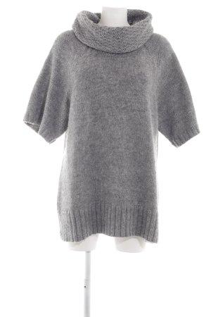 Biaggini Maglione dolcevita grigio chiaro puntinato stile casual