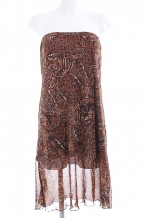 Biaggini Off-The-Shoulder Dress brown abstract pattern elegant