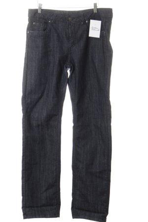 Biaggini Straight-Leg Jeans dunkelblau meliert