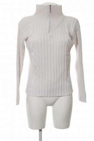 Biaggini Knitted Sweater white cable stitch casual look