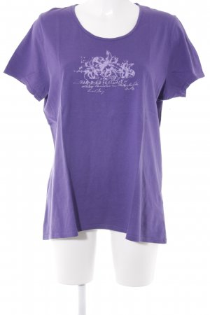 Biaggini T-Shirt lilac placed print casual look