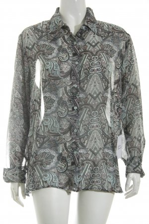 Biaggini Transparante blouse verfraaid patroon zakelijke stijl