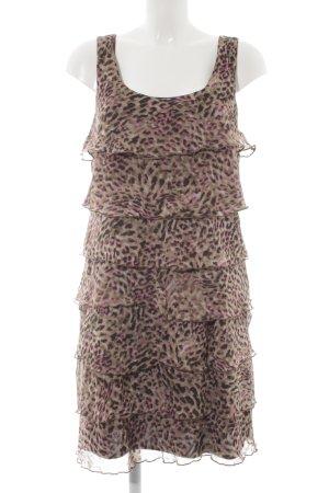 Biaggini Volante jurk volledige print dierenprint
