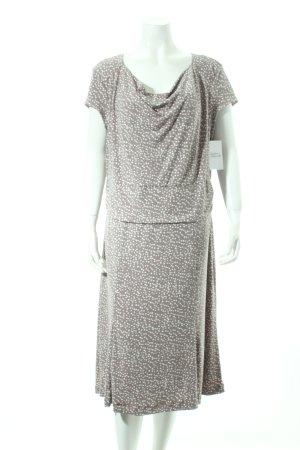 Bianca A-Linien Kleid grau-weiß Punktemuster Casual-Look