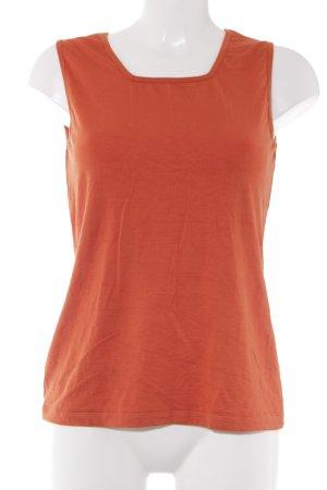 Bianca Top basic arancione stile casual