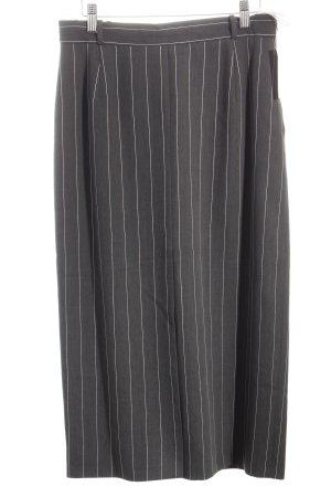 Bianca Falda de tubo gris antracita raya diplomática look retro