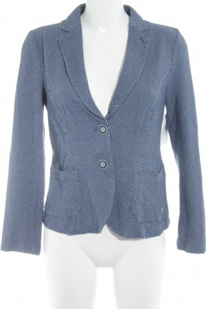 Bianca Short Blazer steel blue-white spot pattern casual look